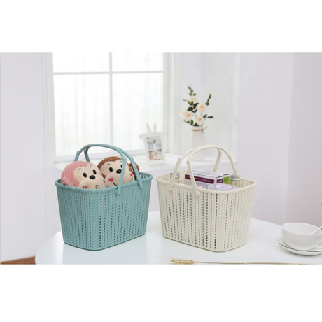 Plastic Organizer Storage Baskets with Handles for Bathroom Metis A8004