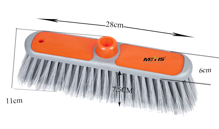 China factory wholesale high quality plastic broom head with TPR Border