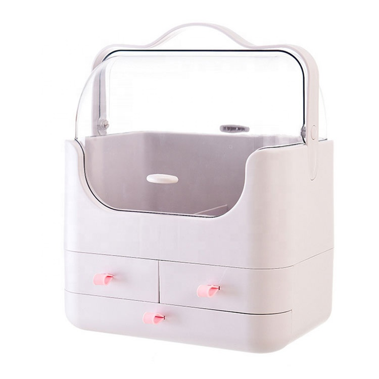 Hot sale beauty makeup box plastic storage box with lid