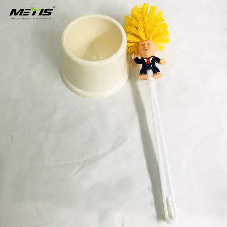 Wholesale plastic funny Trump wc toilet bowl brush holder