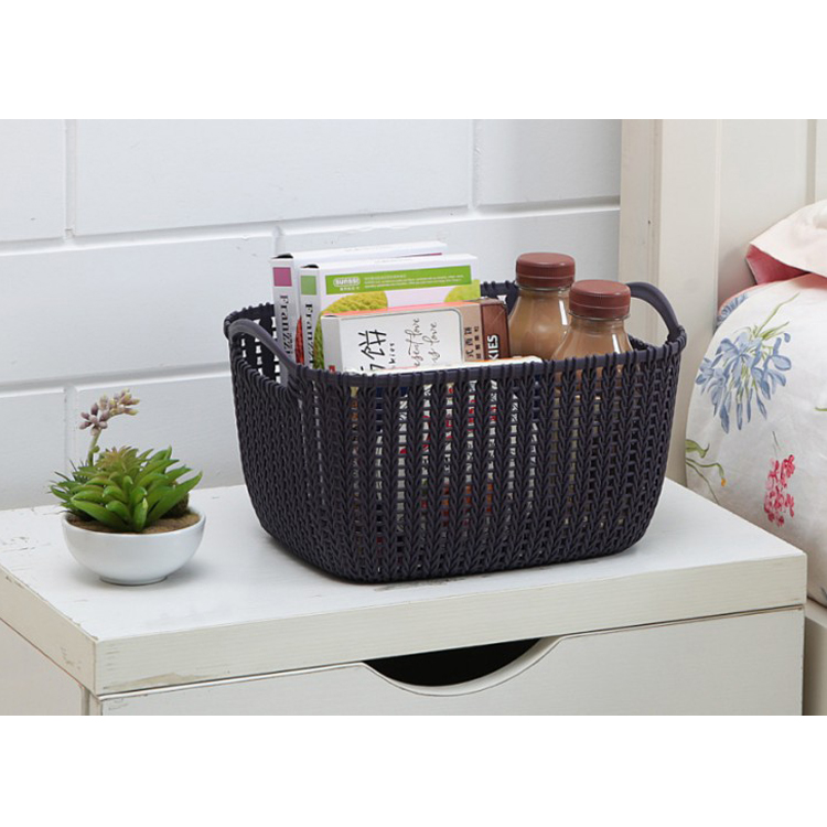 High quality low factory price toys storage basket plastic woven storage basket