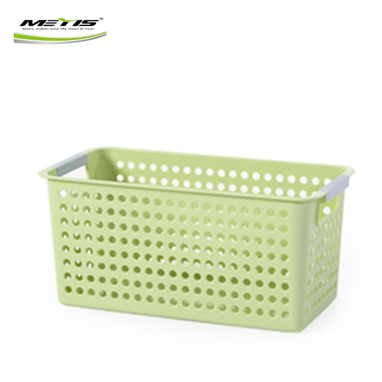 Wholesale bathroom plastic rattan storage box basket organizer