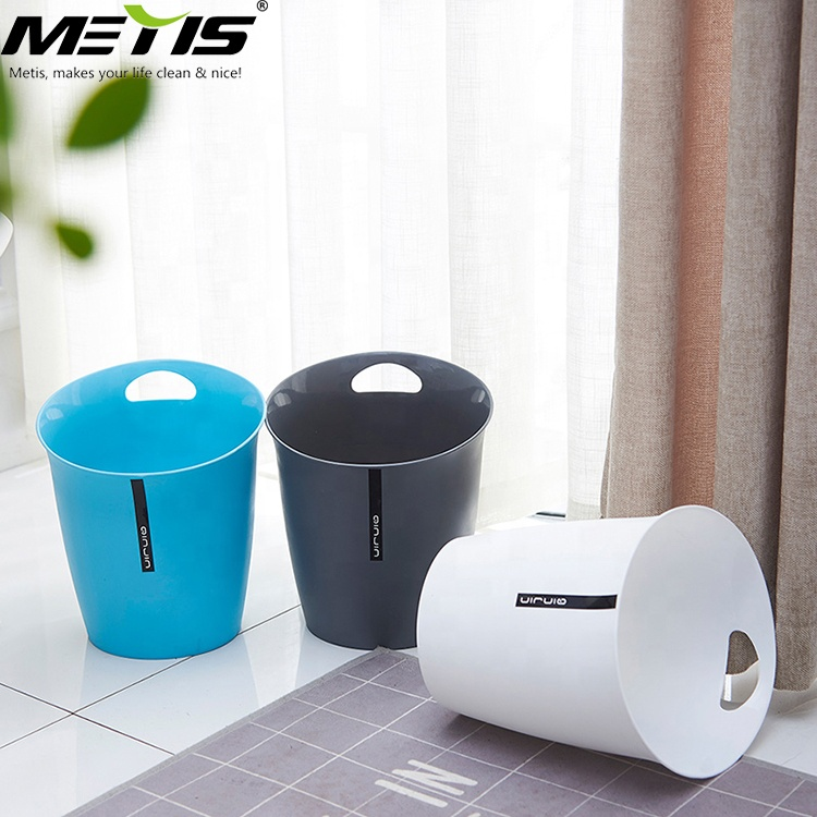 eco-friendly B1004-1 5L plastic round countertop waste bin desktop trash can