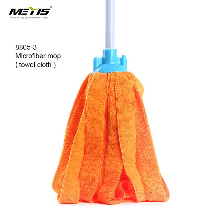 METIS eco friendly Household cleaning products non-woven fabric material floor mop with metal stick