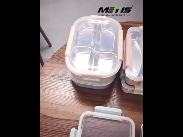 Good selling stainless steel two parts food containers lunch box