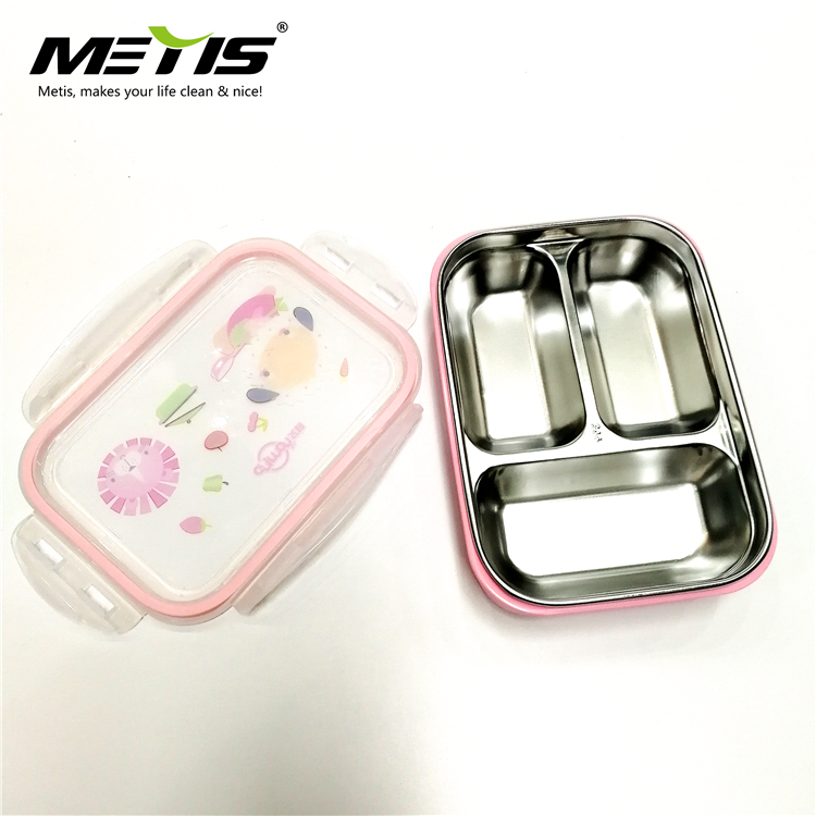 Bento Box with Clip on Lid Leak Proof 5 Compartment Lunch Box
