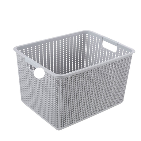 METIS High-Quality household laundry Rectangular storage Plastic Basket With handle