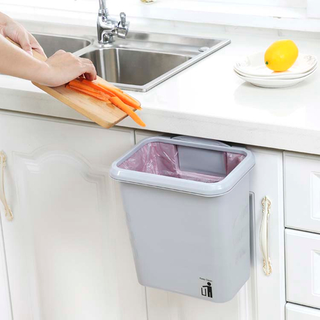 Metis Cleaning Household Bathroom Public Hanging Plastic Garbage Trash Bin For Sale