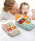 School lunch tray Bamboo fiber PP material colorful kids meal tray car shape plates dish for baby children