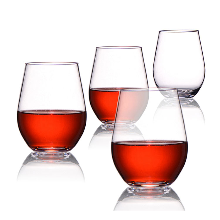 METIS unbreakable BPA free plastic TRITAN Glass Cup party drinking plastic goblet wine cups