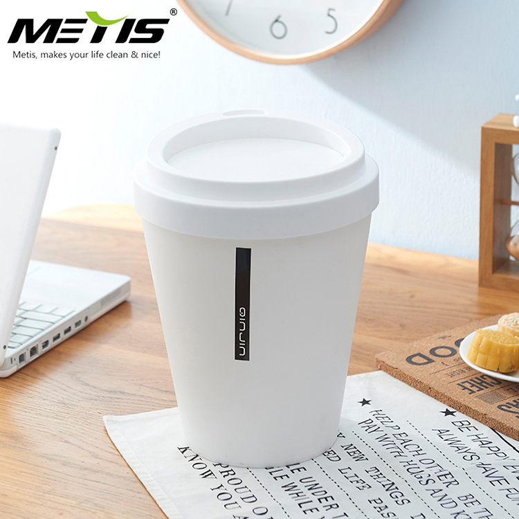 Metis B1014 Nice Design Top Seller Round Small Garbage Can Wastebasket for Household Using