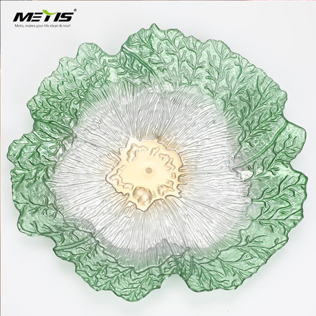 unique design vegetable shape A4057 flat crystal plastic fruit dish bowl