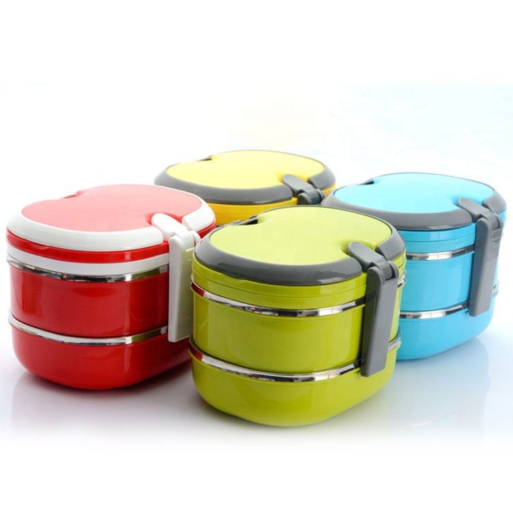 Metis A6038 Factory Directly Provide PP+Stainless Steel Oval Heatable Lunch Box