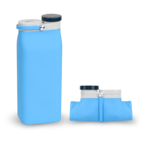 Creative design milk BOX travel Silicone Collapsible Water Bottle