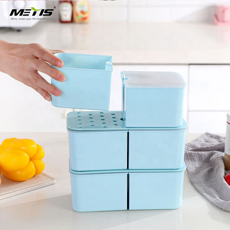 High quality good appearance square 6 parts divided picnic plastic lunch box