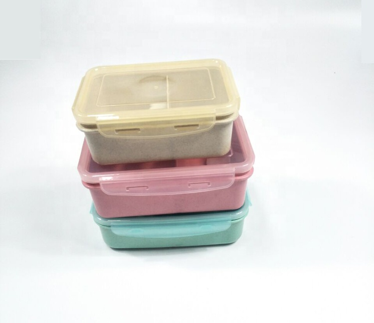 Environmentally friendly biodegradable A6074 optional TPR straw lunch box