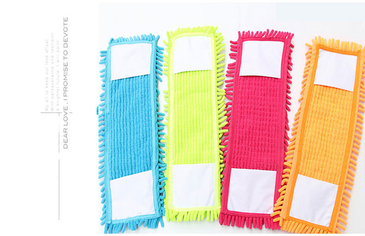 Refill Replaceable Headpiece Chenille Cloth Chenille Flat Mop