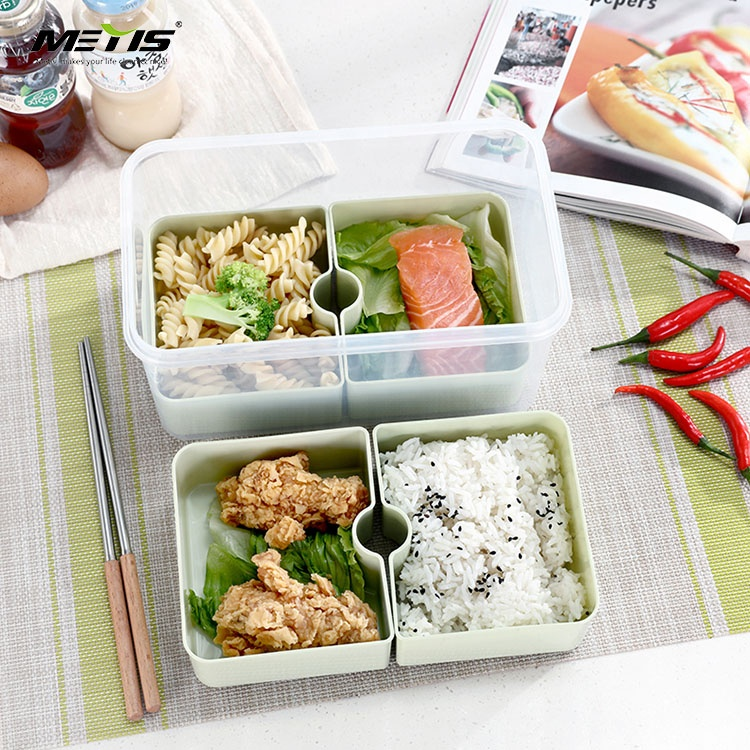 PP plastic rectangle bento lunch box food container tiffin lunch box leak proof contenedor de plstico para comida
