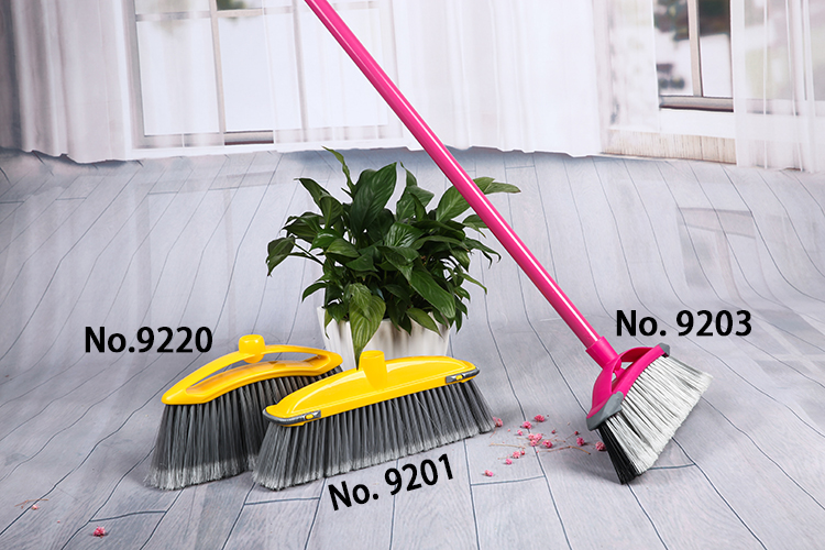 Model 9220 long bristle easy cleaning sweeper plastic floor soft broom