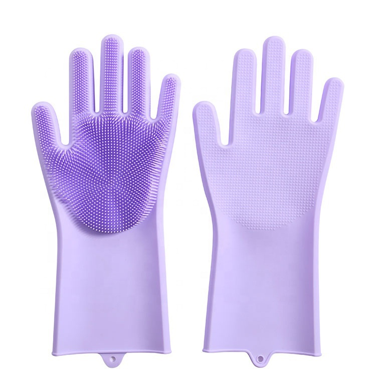 METIS Eco friendly heat Resistant Kitchen Silicone Dish Washing Gloves Silicone waterproof long gloves