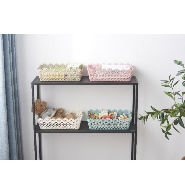High quality low factory price kitchen storage plastic basket storage basket