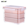 Lunch Box Microwavable heated Meal Prep Containers 3 parts Plastic Divided Food Storage Container Boxes for Kids Adult