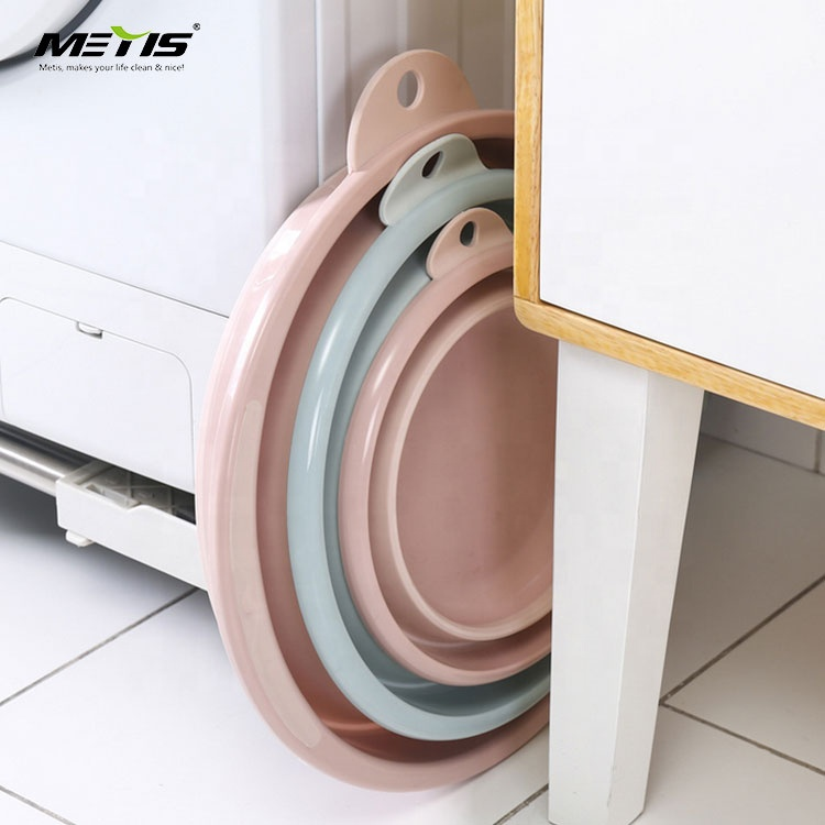 Creative folding wash basin plastic basin hung thick washbasin household folding washtub