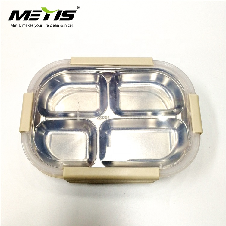 METIS high quality 4 compartments stainless steel food container