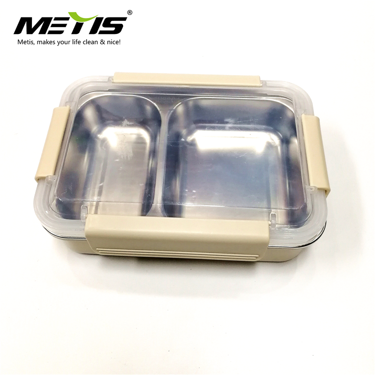 Durable 2 components stainless steel bento lunch box