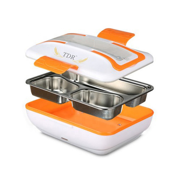 METIS multi-function easy carry 12V USB Self Heating Electric lunch box