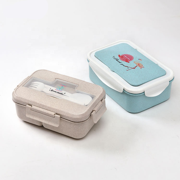 Metis easy carry food grade PP wheat straw lunch boxes for children